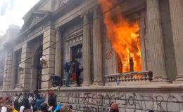 Violenta protesta política en Guatemala