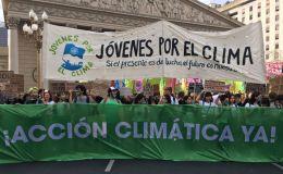 Marcha de jóvenes por la crisis climática