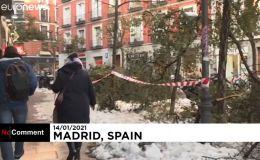 Madrid sigue colapsada tras la histórica nevada