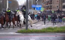 Restricciones: Violenta protesta en Holanda